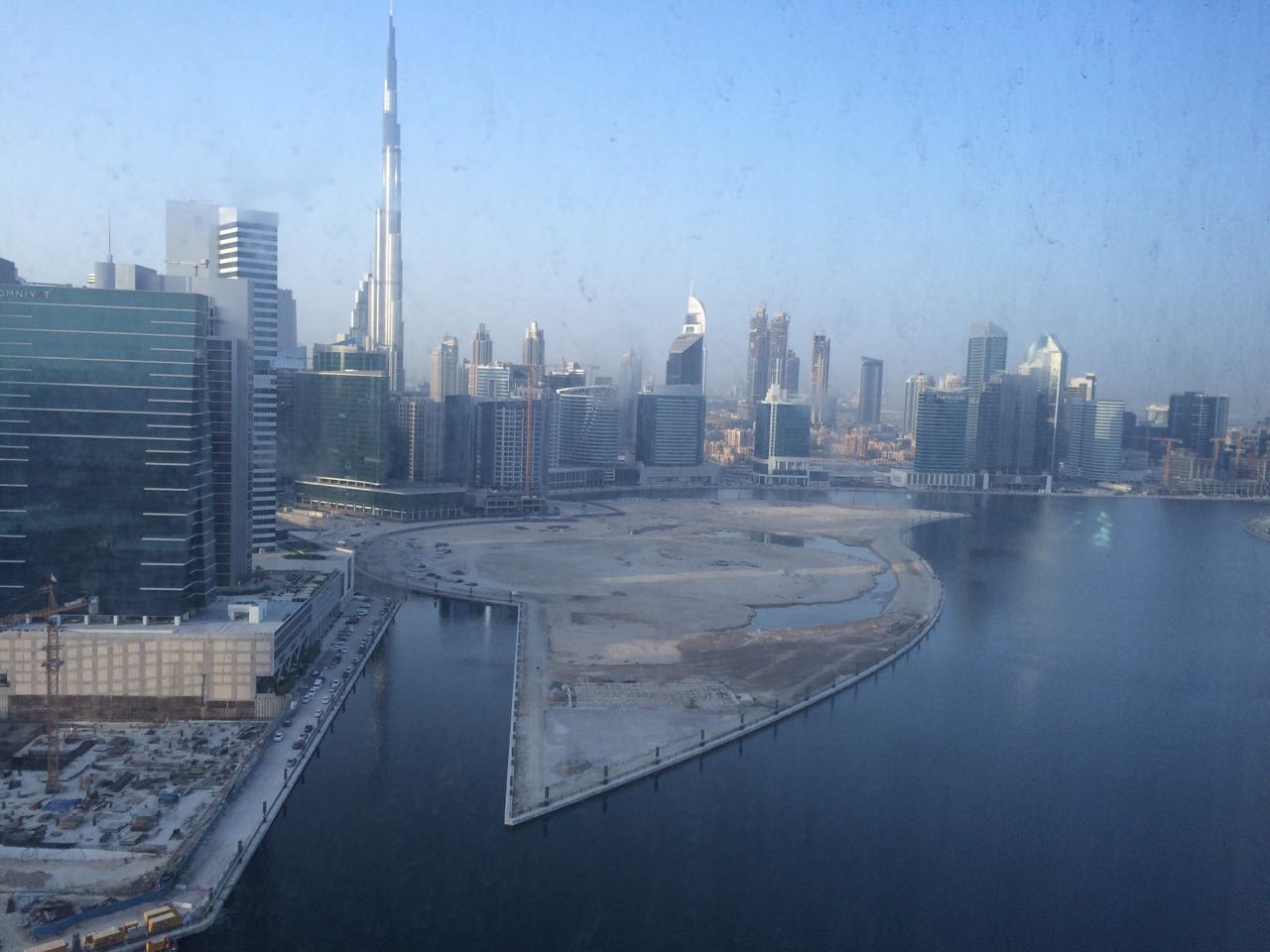 Amazing Fully Fitted Office with partitions with Burj Khalifa and Lake view